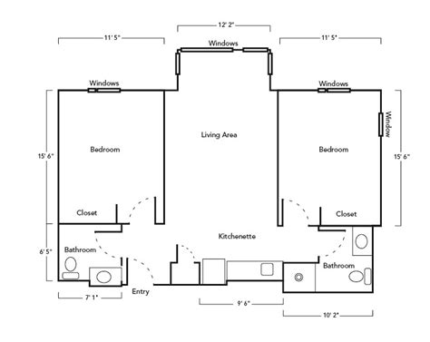 typical biography layout suite amenities 2 bedroom suite department of