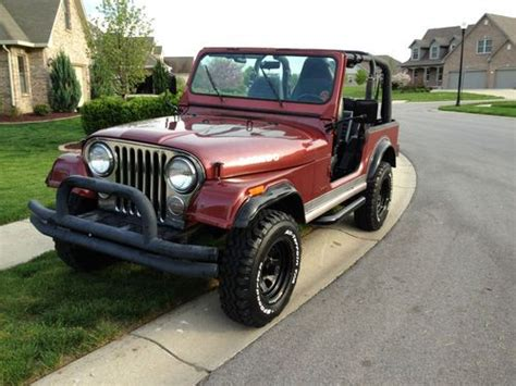 Used Jeeps Indianapolis Sell Used 1984 Jeep Cj7 Laredo In Indianapolis Indiana