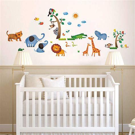 Babyzimmer Wandsticker by Wandsticker Dschungeltiere Safari Wandsticker Kinderzimmer