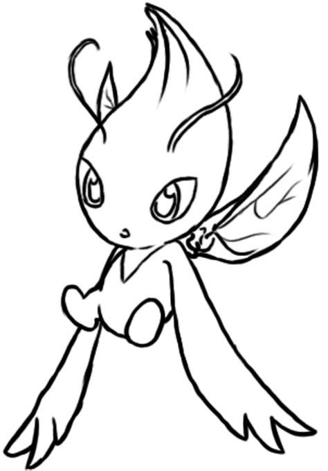 pokemon coloring pages celebi pokemon celebi outline images pokemon images