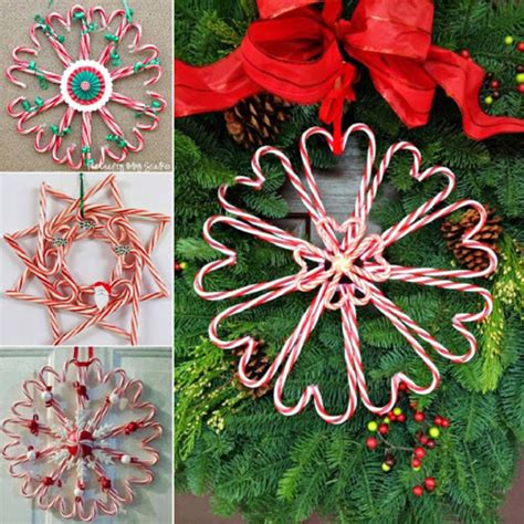 diy candy cane heart wreaths