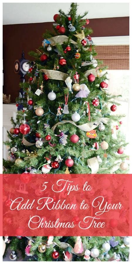 how to add ribbon to your christmas tree storypiece