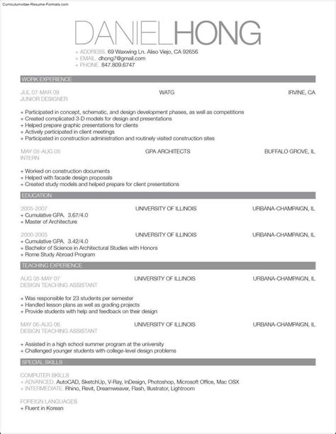 Great Looking Resume Templates Free Sles Exles Format Resume Curruculum Vitae Best Looking Resume Templates