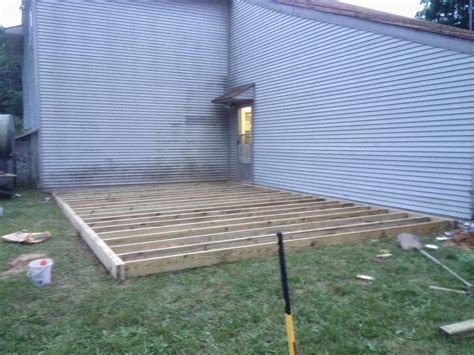 how to level a house from dirt to deck how to build a ground level deck the