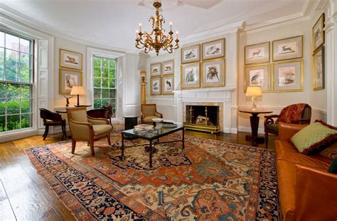 houzz area rugs Living Room Traditional with Antique