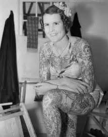 betty broadbent the tattooed lady travalanche