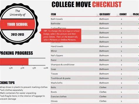 college application checklist template school checklist school checklist templates