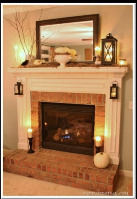 Small Fireplace Mantel by Mantle Decor Ideas Add A Small L For A Light