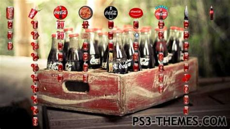 theme line coca cola ps3 themes 187 coca cola