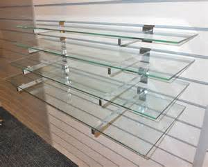slatwall display shelves 4 toughened glass shelves with or without slatwall