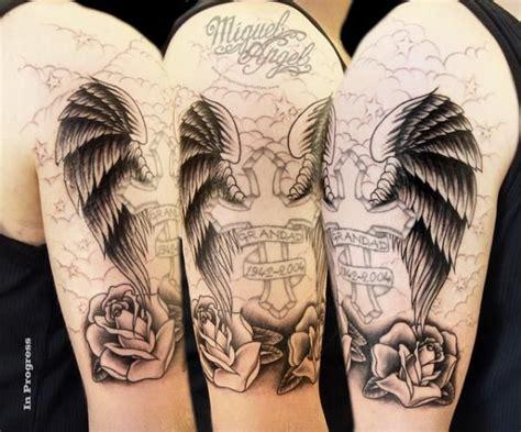 memorial quarter sleeve tattoo 25 memorial grandma tattoos