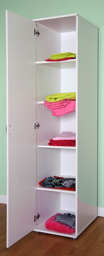 One Door Wardrobe White by Chester 1 Door Wardrobe Shelves And Or Hanging Rail