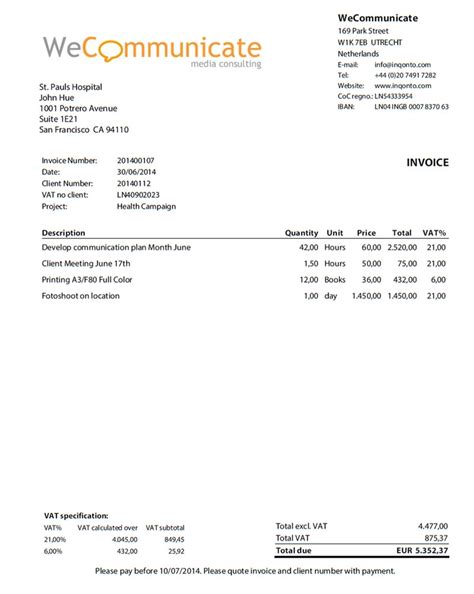 Self Employment Invoice Invoice Template Ideas Self Employed Invoice Template