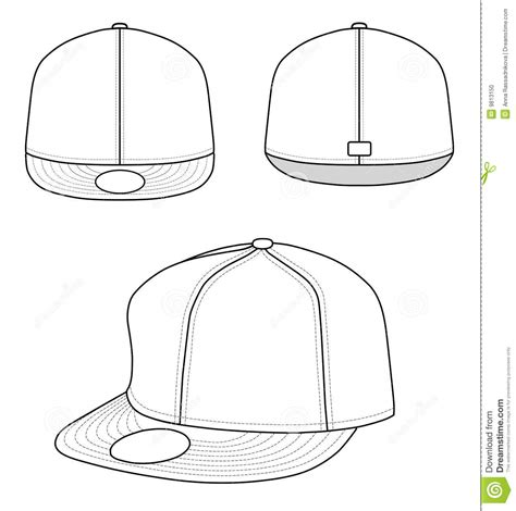 snapback template 18 hat template vector images hat template