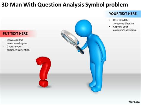 Construction Plan Symbols by 3d Men With Question Analysis Symbol Problem Ppt Graphic