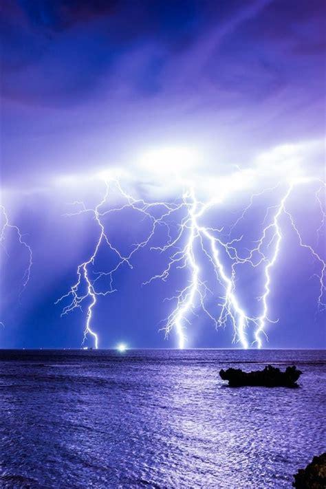fondos de pantalla mar relampago noche australia