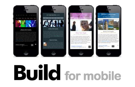 mobile site design template mobile compliant html web templates optimized for