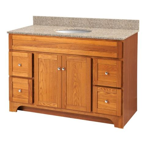 worthington oak 48in vanity no top