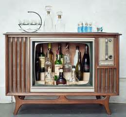 Entertainment Bar Cabinet Vintage Console Televisions Converted To Liquor