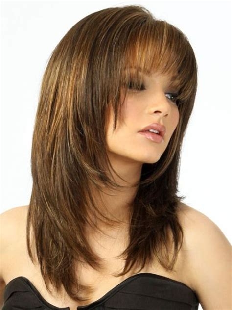 hairstyles feathered layers angled 7 best images about round long layer hair cut on pinterest