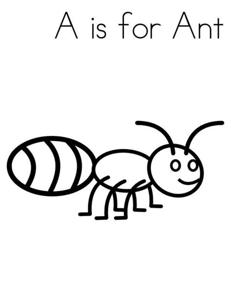 A Is For Coloring Pages a is for ant coloring page coloring sky
