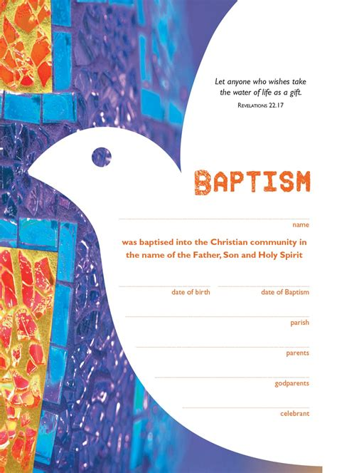 becoming catholic baptism certificate garratt publishing
