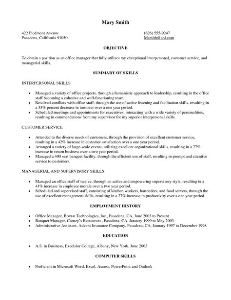 To Civilian Resume Exles by Free Sle To Civilian Resume