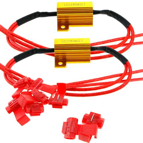 12v ballast resistor pair of motocycle led indicator 12v relay 25w load resistor bulbs ballast ebay