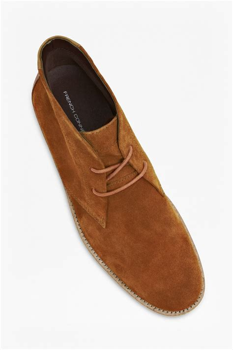 corian jacket connection corian suede desert boots in brown for