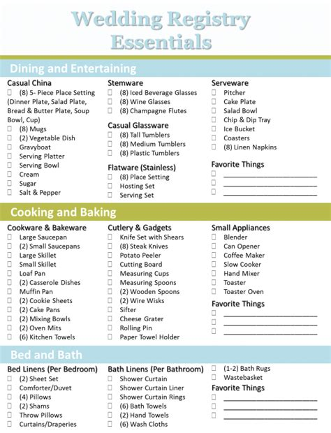 printable checklist for wedding registry bridal shower registry list video search engine at