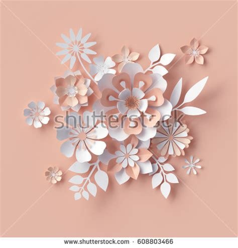3d paper flowers template paper flower stock images royalty free images vectors