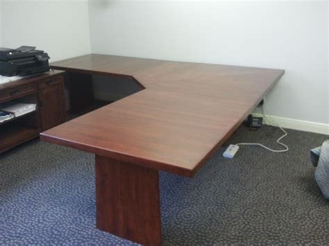 Custom Desk Ideas Crafted Hickory L Shaped Desk By Baltic Woodsmith Custommade