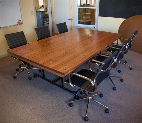 Industrial Conference Table 8ft Industrial Conference Table Wide Solid By Emmorworks