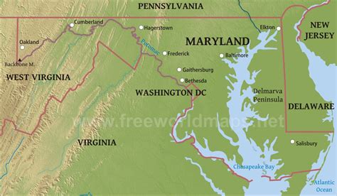 maryland earth map maryland physical features map swimnova