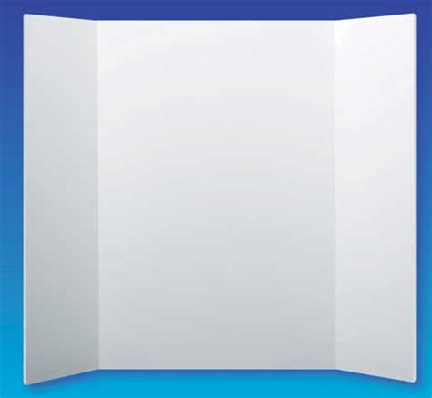 Flipside Tri Fold Display Foam Board 36 X 48 Pack Of Ten Tri Fold Presentation Board Templates