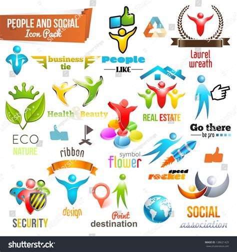 shutterstock design elements and layout vector pack people social community 3d icon symbol stock vector