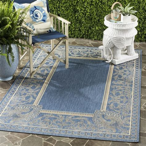 safavieh cy2965 3103 courtyard indoor outdoor area rug blue lowe s canada vine peacock outdoor carpet safavieh courtyard rugs