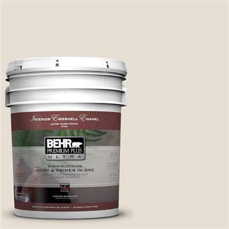behr premium plus ultra 5 gal 73 white eggshell enamel interior paint 275005 the home depot