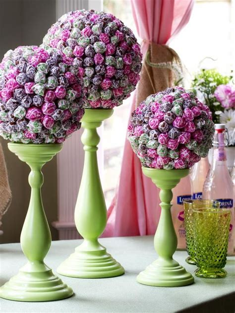 how to make centerpieces how to make a lollipop topiary centerpiece initials