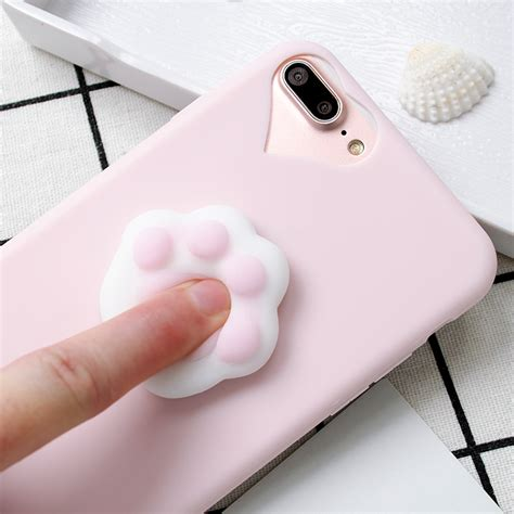3d squishy reliever soft cat silicone tpu phone cases for samsung galaxy j5 j7 a3 a5