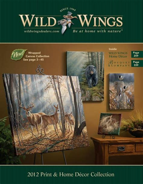 catalog with cheap home decor wild wings and bouquet wholesale 2012 home d 233 cor and print