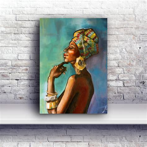 quot red quot marci oleszkiewicz oil on linen female head art black woman paintings portraits quot african princess quot