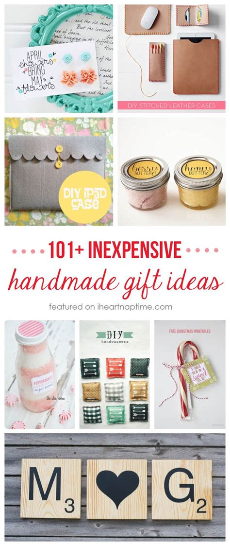 Handcrafted Gift - 101 inexpensive handmade gift ideas new craft works
