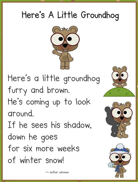 groundhog day poem it s groundhog day 16 free ideas teach junkie
