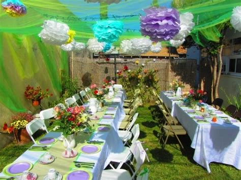 themes en english decorated back yard for baby shower kind of english
