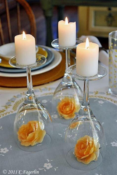 Upside Down Wine Glass Wedding Centerpiece Easy Wedding Diy Wine Glass Wedding Centerpieces