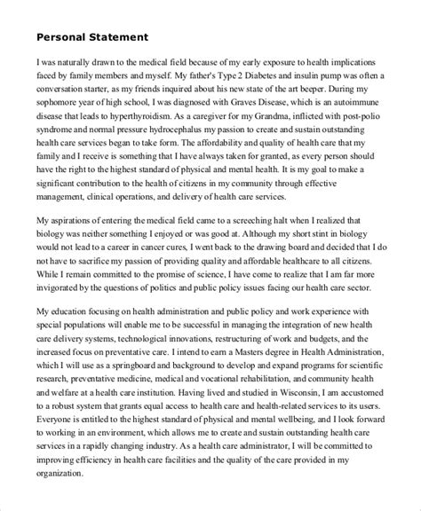 personal statement template sle personal statement 8 exles in word pdf