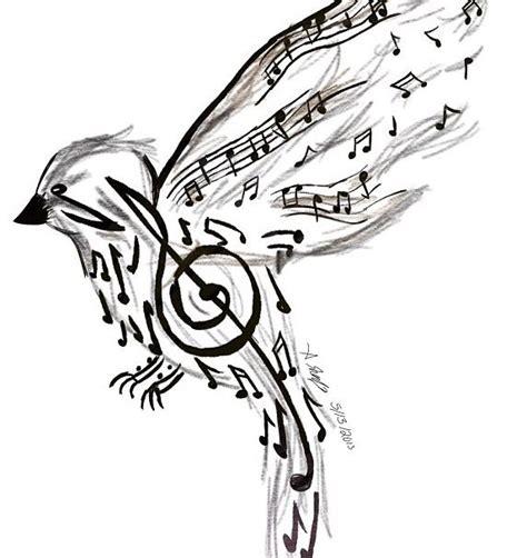music bird tattoo note bird note bird