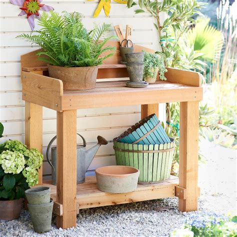 outdoor potting bench with storage outdoor potting bench with storage home landscapings