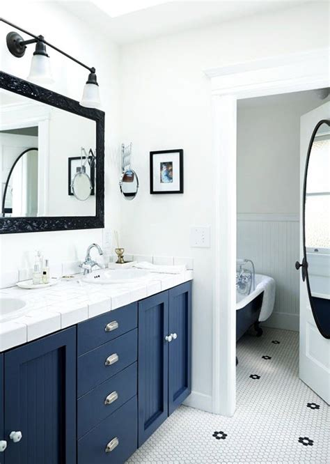 Navy Blue Bathroom Ideas Navy Hexagon Tile Related Keywords Navy Hexagon Tile Keywords Keywordsking
